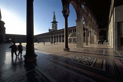 view from courtyard Ummayad Mosque