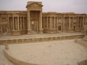 The palmyra amphitheatre