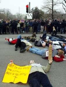 Anti war protestors in D.C.