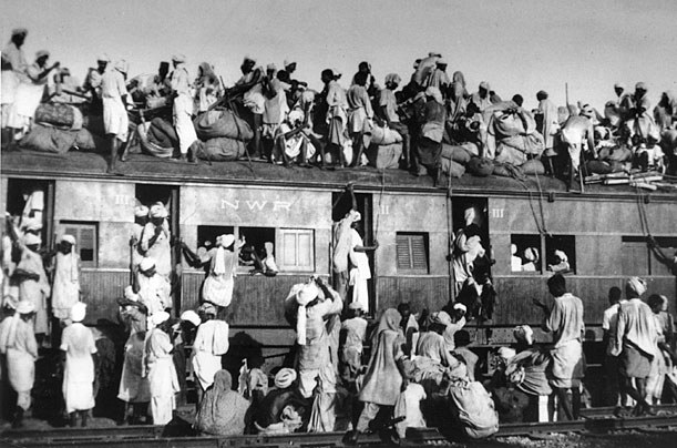Muslim refugees on the train to Pakistan