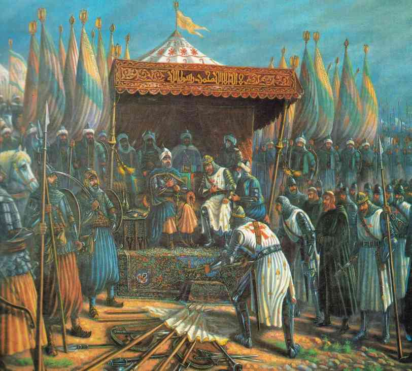 Christians submit to Saladin