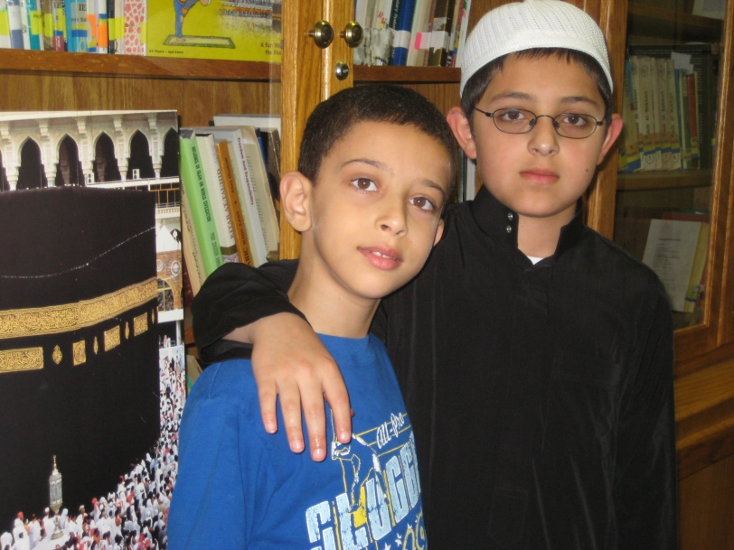 The child with the cap is Hafiz e Quran mashallah!