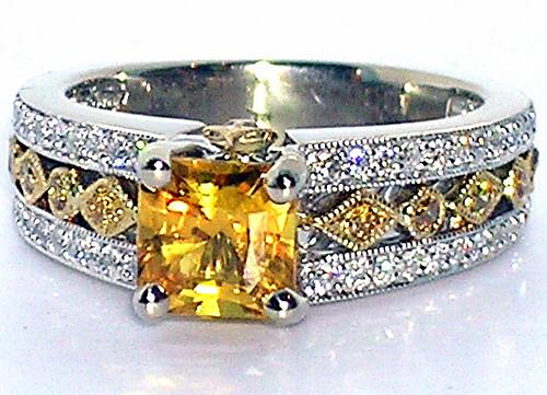 Yellow sapphires & diamonds courtesy:http://www.flickr.com/photos/theappraiserlady/2060596885/