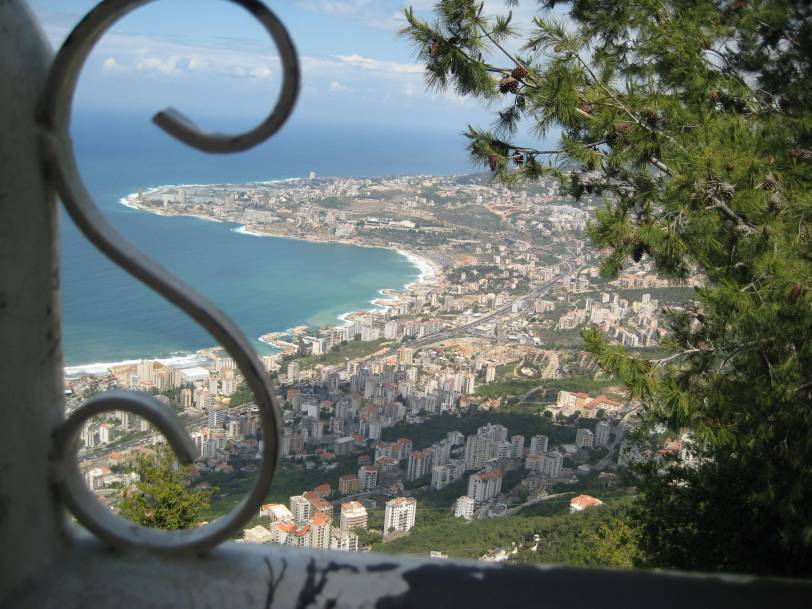 Looking at The Mediterranean from Harrisa Mountain in Lebanon