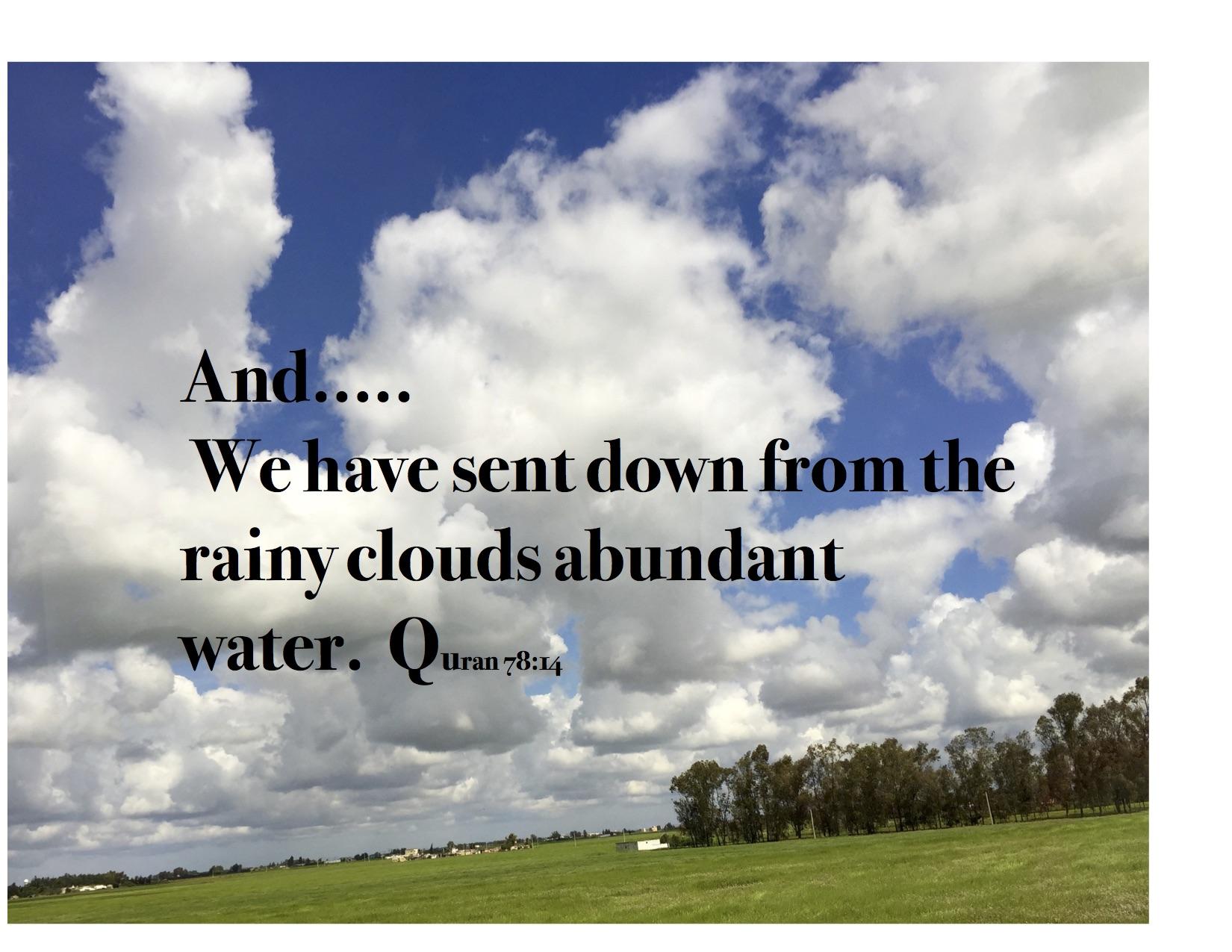CLOUDS BRING THE RAIN AS A BLESSING: Quran 78:14 | Siraat-e-Mustaqeem
