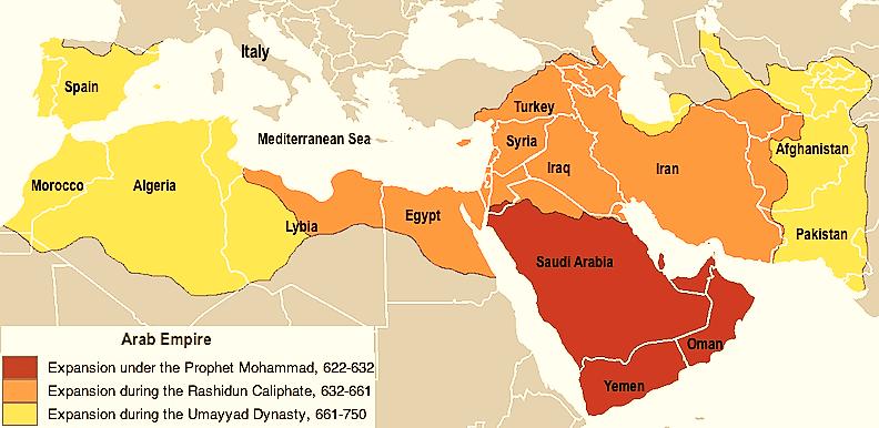 rashidun_map
